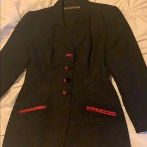 Black and red trim Jan Barboglio Jacket.